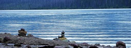 cairns in Glacier Park